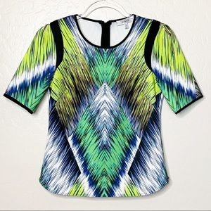 Milly of New York Scuba Green and Blue Top A